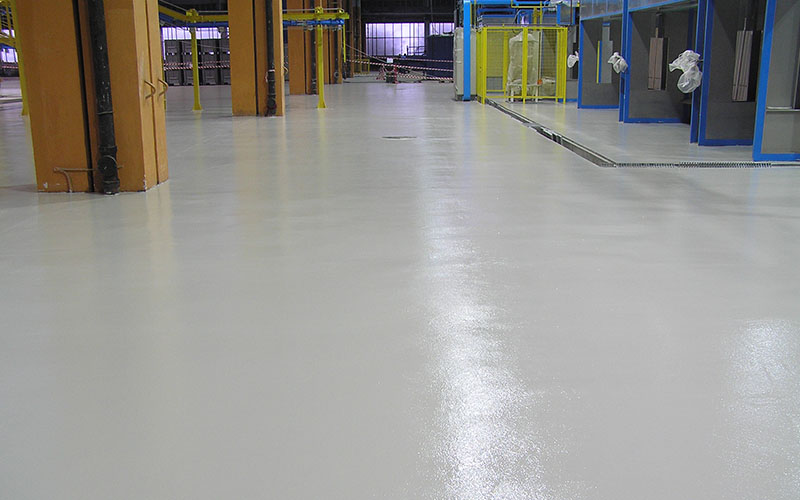 De epoxy vloercoating